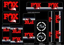 FOX Racing Shox Factory Style Decal Kit Sticker Adhesive Set Red