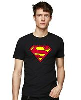 SUPERMAN JUSTICE LEAGUE CLASSIC LOGO SUPERHERO MEN'S SHORT SLEEVE T-SHIRT