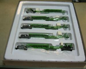 WALTHERS 910-5253 HO Burlington Northern 5-Unit 48' Spine Car #637500
