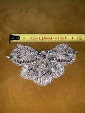 Wedding Dress Applique Rhinestone Crystal Trimming DIY Motif Bridal Butterfly