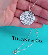Tiffany & Co Argento Sterling 5th Fifth Avenue NOTE Collana con Pendente Cerchio