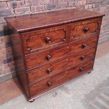 Fine ~Victorian ~Antique ~Stunning ~Chest of Drawers ~Hat Box ~Burr Walnut~ VGC~