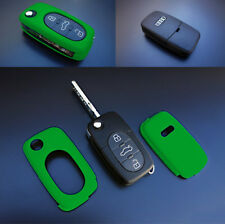 Early-Audi Remote Flip Key Cover Case Skin Shell Cap Fob Protection S Line Green