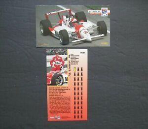 AL UNSER JR. PROMO CARD Auto Racing Pole Winner Indy 500 Skybox 1995