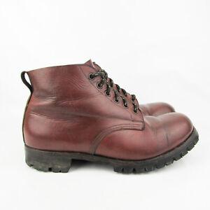 Vintage Walking Books Size 6 Brown Leather Vibram Brevettata Montagna Hiking