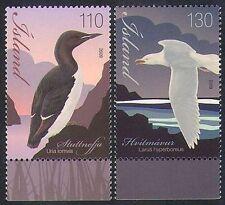 ICELAND 2009 COASTAL BIRDS SET (2v) MNH BEAUTIFUL