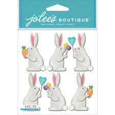 Easter Bunny Bunnies Jolee's Boutique Dimensional Stickers 50-21768 New