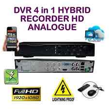 DVR 4 Channel Hybrid CCTV 1080 HD 4 in 1 recorder HDTVI IP AHD Analogue UK spec