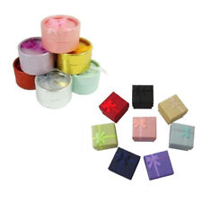 12 PCS Random Color Round Square Small Gift Box for Ring Earrings Jewelry J5K9