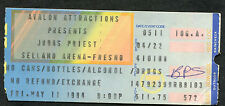 1984 Judas Priest Great White concert ticket Fresno CA Defenders of the Faith