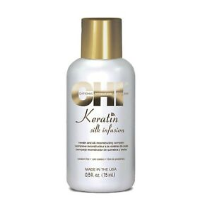 Farouk CHI Keratin Silk Infusion Damaged Dry Hair Treatment Serum Repair 15ml UK
