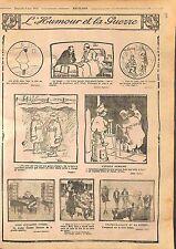 Humour & la Guerre Tirailleur Sénégalais Palmier Poilus Hôpital Balle WWI 1916