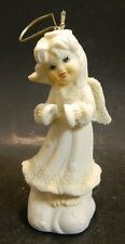 "Vintage Snow Angel with Cymbals Ornament Snow Babies ? 4.5"" x 2"" Excellent Cond"