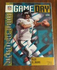 1996 Oilers vs. Jaguars Program Mark Brunell