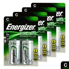 8x Energizer Rechargeable C Size batteries Accu Recharge Power Plus NiMH 2500mAh