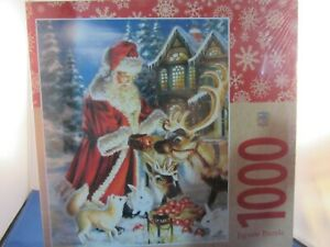 Christmas Puzzle, Santa Claus & reindeer, bunny, fox 1000 pieces