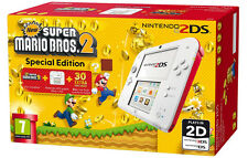 Nintendo Handheld Console 2DS - White/Red with New Super Mario Bros 2