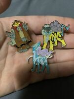 Official Pokemon Legendary Beasts-RAIKOU, ENTEI & SUICUNE  *3 pin set* IN HAND