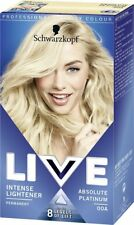** SCHWARZKOPF LIVE INTENSE LIGHTENER 00A ABSOLUTE PLATINUM HAIR DYE NEW **