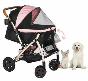 PET ROVER XL Extra-Long Premium Stroller for Small/Medium/Large Dogs, Cats, Pet