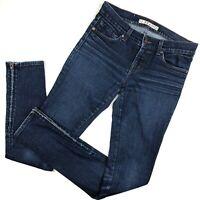 J Brand Jeans Skinny Ankle Zipper womens size 26 Mid Rise Stretch Denim Blue 2