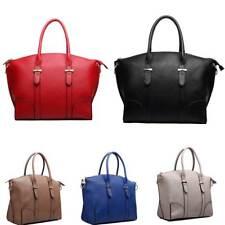 Ladies Designer PU Leather Structured Shoulder Tote Handbag Large Bag