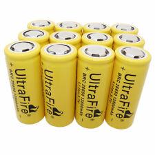 Batería 12 un. 26650 12800mAh Li-Ion 3.7V Baterías Recargables Para LED Antorcha UK