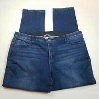 CJ Banks Signature Slimming Jeans Womens Plus Size 20W Elastic Waist Blue Denim
