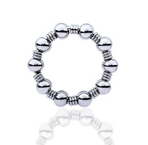 Stainless Steel Beads Male Penis Jewellery Ring Sleeve Fetish Impotence Erection