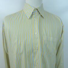 Forsyth Of Canada Yellow Plaid Mens Button Front LS Shirt Sz L