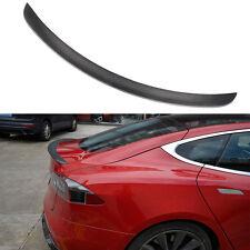 Carbon Fiber Matt Rear Trunk Spoiler Wing Fit  For Tesla Model S Sedan 2012-2016