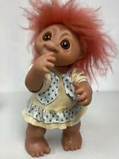 "Vintage 1979 Dam Thumb Sucking Troll 806 16"" Clothing Is Soiled Pink Hair"