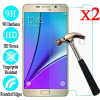 2Pcs Premium Tempered Glass Film Screen Protector For Samsung Galaxy Note 5 4 3