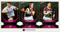 2011 Select NRL Champions Trading Cards Silver Foil Team Set Manly (12)