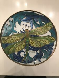 "Pottery Barn Art nouveux Dragonfly Approx 8.25"" Plate"