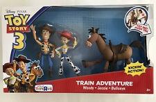 Toy Story 3 Train Adventure Woody Jessie & Bullseye Lg Action Figure Set 2009