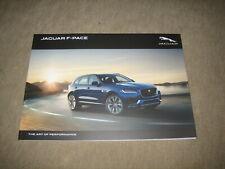 Jaguar F-Pace Prospekt Brochure von 2017, 110 Seiten