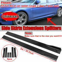 Universal Car Side Skirt Extension Rocker Panel Splitters Lip ForHonda for BMW T