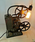 VINTAGE KEYSTONE PROJECTOR REPURPOSED TO DECORATIVE LAMP WITH EDISON BULB