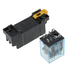 DPDT Power Relay with Plug-in Terminal Socket Base 250VAC Coil 8 Pin