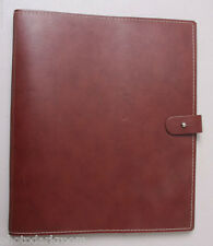 "Florence Leather Portfolio 8 1/2 x 11"" Stitched Edges - Loop - NEW Old Stock Ts"