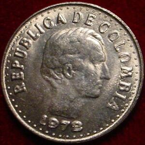 HI GRADE BU 1972(DOUBLING DATE-DOUBLE PUNCH 10 CENTAVOS COLOMBIA*SUPERB DETAILS*