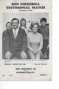 Grimsby Town v Sunderland 1969 Ron Cockerill Testimonial Match