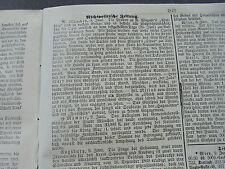 1870 Augsburg Zeitung 158 / München Wagner Walküre / Bremen Brand