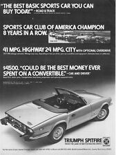 """1978 Triumph Spitfire Convertible photo """"Best You Can Buy Today"""" promo print ad"""