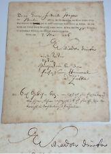 Bildhauer Johann Gottfried SCHADOW (1764-1850): Signiertes Zeugnis BAUAKADEMIE
