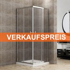 Duschkabine 80x80cm Eckeinstieg Duschabtrennung Schiebetür Echtglas Duschwand