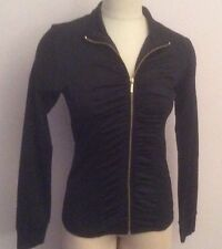 NWT $80 Ellen Tracy Athleisure  Ruched Jacket Black Size Small