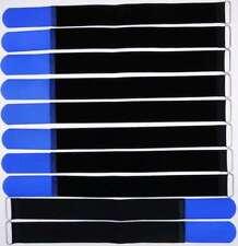 10 Klett Kabelbinder 400 x 40 mm blau Kabelklettband Kabelklett Klettband m. Öse