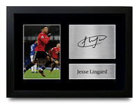 Jesse Lingard Signed A4 Framed Printed Autograph Manchester United Print Gift